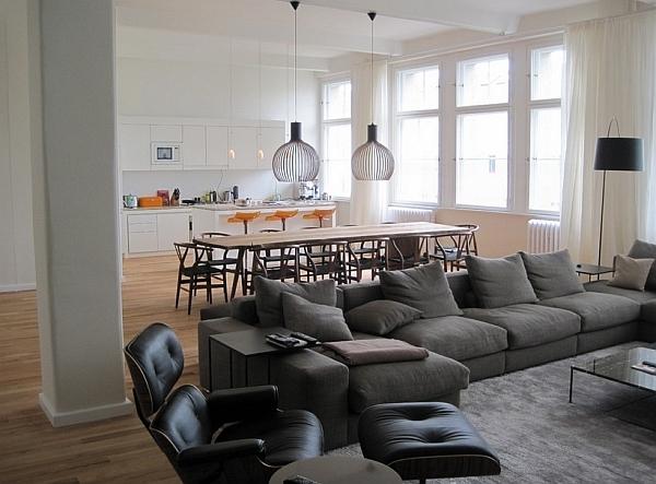 pendelleuchte sofa ledersesse  wohnideen tisch