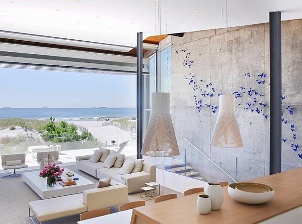 pendelleuchte sommerhaus dekoideen sofa
