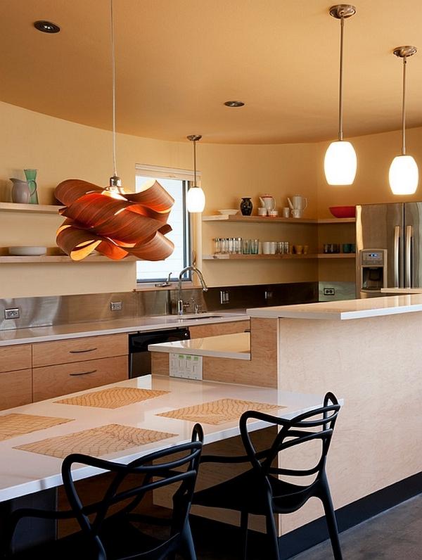 pendelleuchten küche wohnideen geschirr