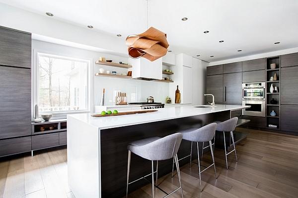 pendelleuchten wohnideen küche kücheninsel barhocker