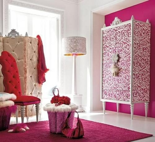pink farbe gestaltung zimmer jugendzimmer kleiderschrank orientalisch stil