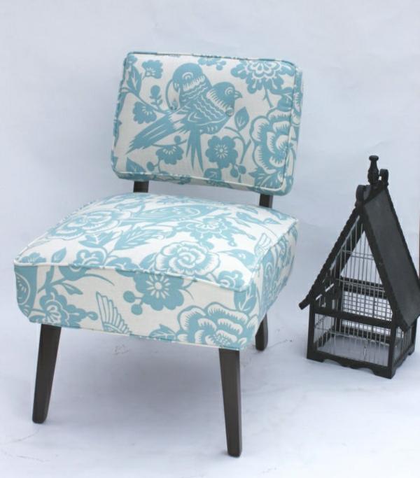 wohnen muster weich textilien blau weiß Polstermöbel und Wohnlandschaft