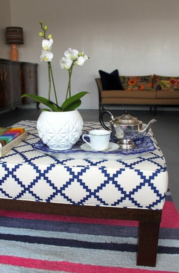 polstermöbel designs wohnen muster weich textilien couchtisch