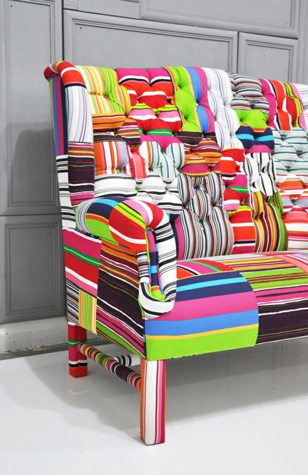 wohnen muster weich textilien eklektisch Polstermöbel und Wohnlandschaft