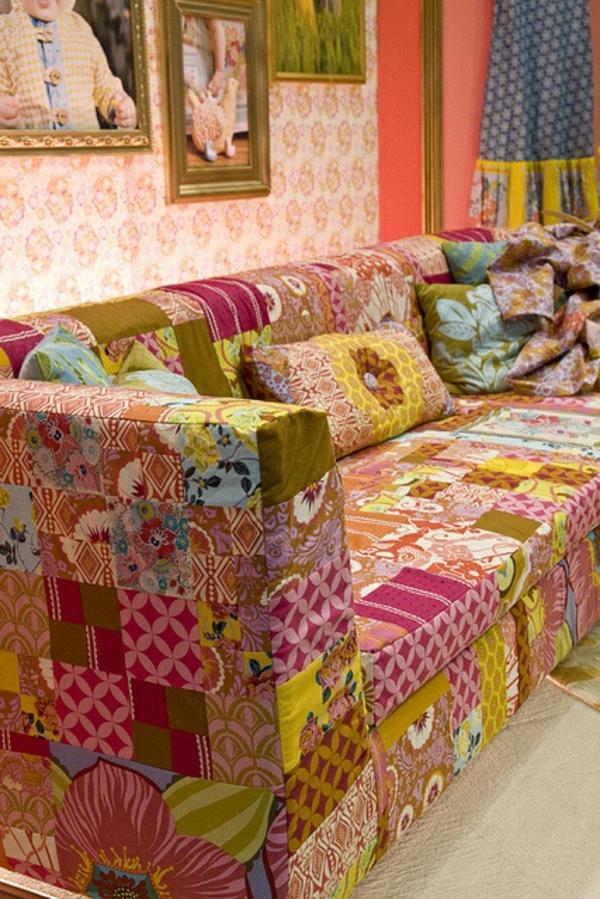 wohnen muster weich textilien patchwork Polstermöbel und Wohnlandschaft