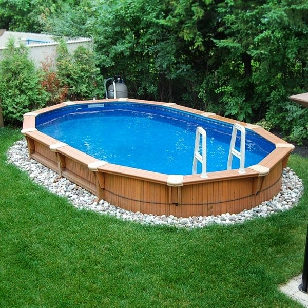 pool über der bodenfläche