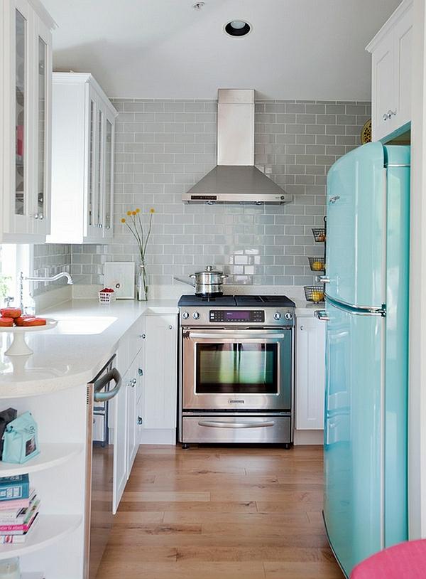retro küche einrichten schön klein