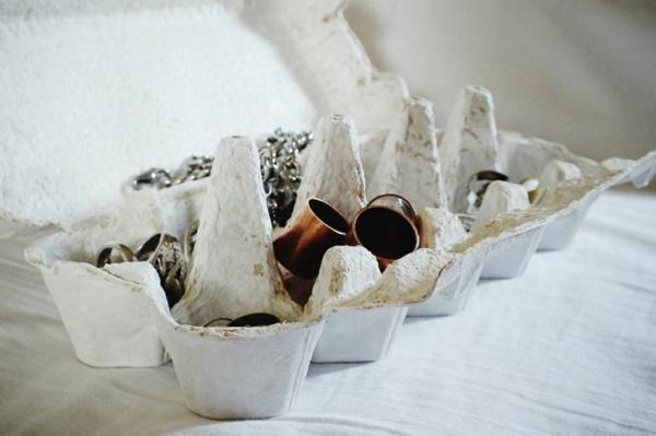 ringe aufbewahren schmuckständer selber machen diy ideen eierverpackung