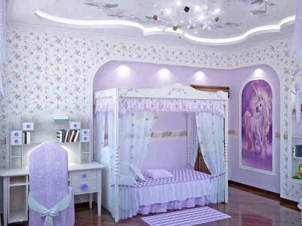 romantische einrichtung kinder schlafzimmer beleuchtung