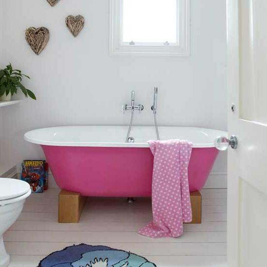 rosa badewanne pink tuch