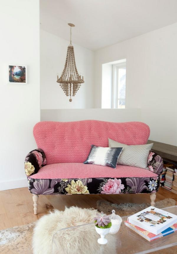 rosa sofa kissen Polstermöbel und Wohnlandschaft weiß einrichtung