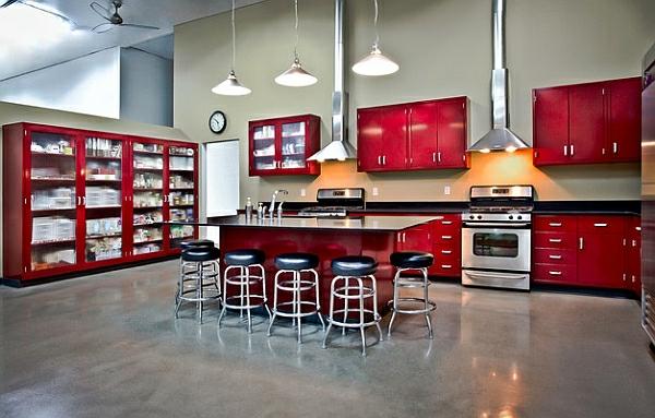 küchenschränke retro modern zugleich