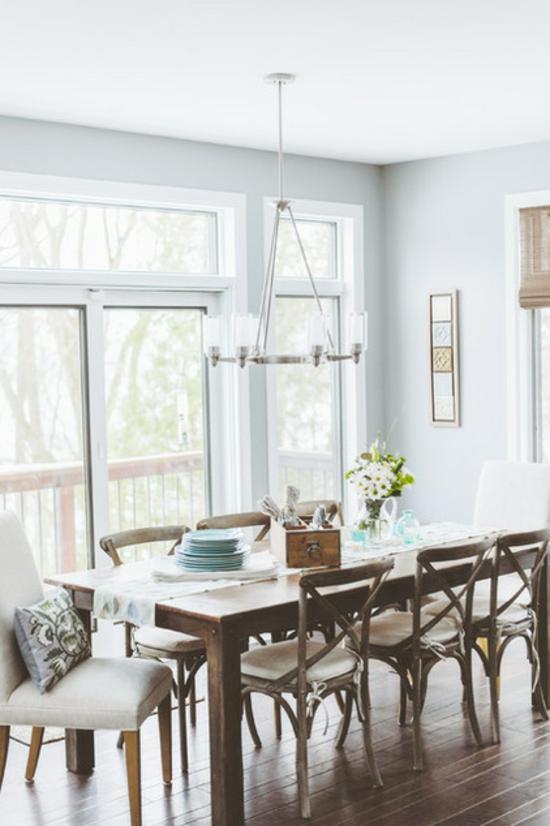 rustikale wohnideen esszimmer gestalten esstisch sthle aus holz - Rustikale Wohnideen