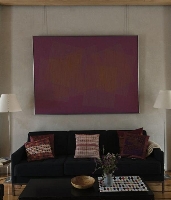 sachlich eintönig orientalische muster wurfkissen wandfarben wohnzimmer
