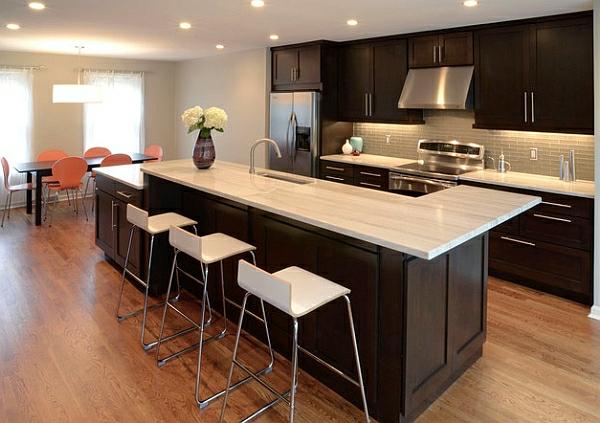 schön barhocker kücheninsel kücheneinrichtung