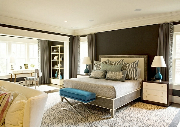 schlafzimmer einrichtung tischlampen weiß lampenschirm
