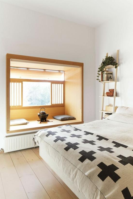 Holz Fensterbank Einbauen Anleitung ~ schlafzimmer fensterbrett fensterbank einbauen aus holz tee trinken