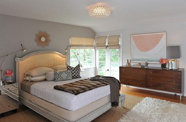 schlafzimmer gemütlich komfort pendelleuchten led