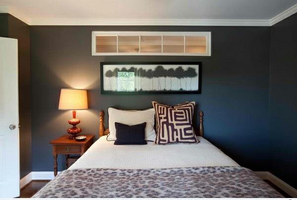 Blaue Wandfarbe Schlafzimmer : Reizende schlafzimmer ideen mit leopard akzenten
