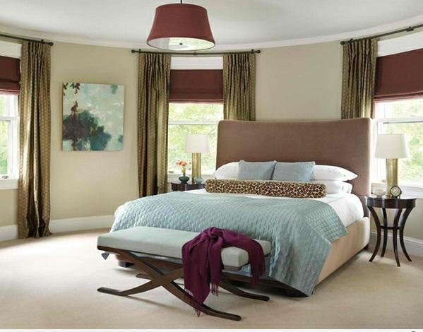 schlafzimmer ideen brooklin blaue bettdecke bank