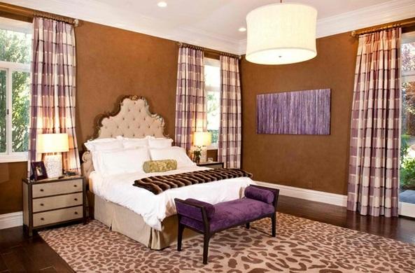 schlafzimmer ideen mit lila akzent