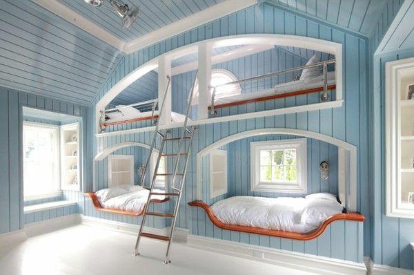 pin jugendzimmer ideen f r jungen mit vielen schlafpl tzen. Black Bedroom Furniture Sets. Home Design Ideas