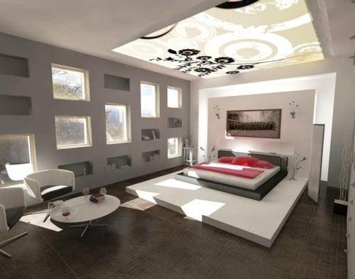 schlafzimmer beleuchtung tageslicht bett teenage indirekte