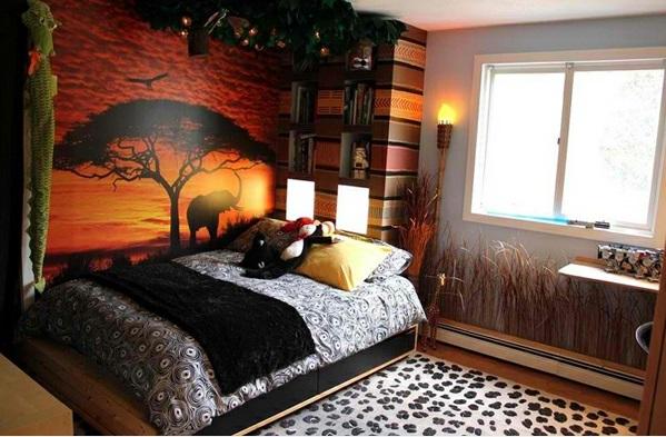 schlafzimmer von afrika inspiriert