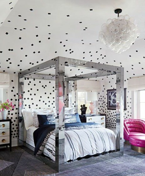 schlafzimmer wandgestaltung kreative ideen als inspiration. Black Bedroom Furniture Sets. Home Design Ideas