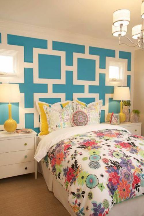 Schlafzimmer ideen wandgestaltung blau  Schlafzimmer wandgestaltung blau ~ Übersicht Traum Schlafzimmer