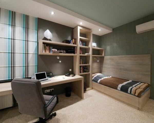 schlichter stil jungenzimmer wohnideen