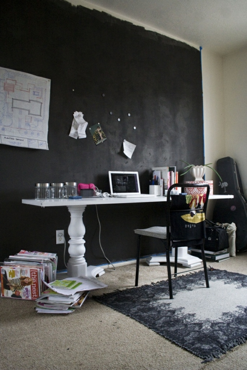 büro office selber bauen bunt holz preisgünstig dunkel