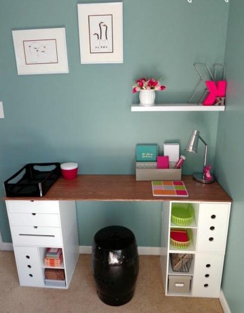 1001 ideen f r schreibtisch selber bauen freshideen. Black Bedroom Furniture Sets. Home Design Ideas
