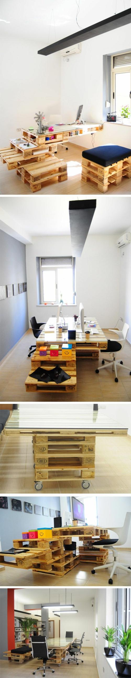 diy schreibtisch büro holzpaletten hypeness.com.br