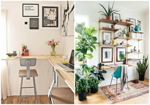 schreibtisch selber bauen diy büro ideen naturholz hell
