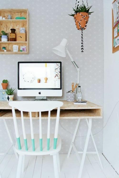 Schreibtisch selber bauen 60 stilvolle diy ideen f r sie - Office idee ...