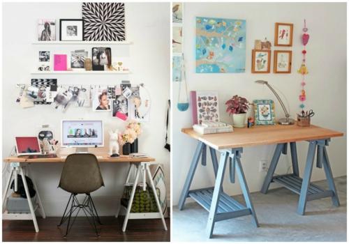 Größere Schreibtische lassen sich auch ganz einfach aus alten ...