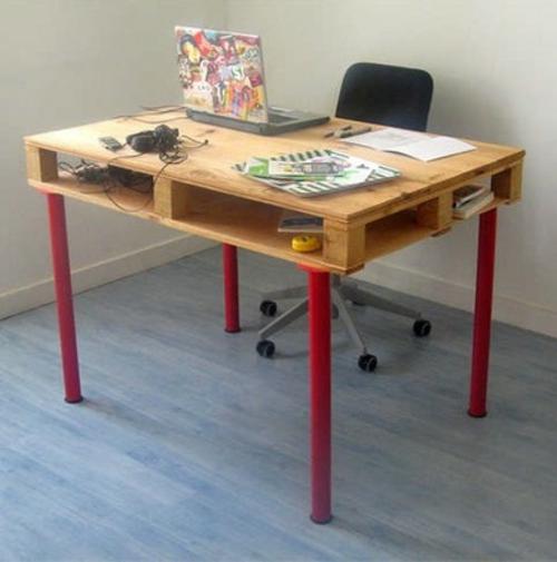 Schreibtisch selber bauen paletten  Schreibtisch Selber Bauen Ikea ~ amped for .