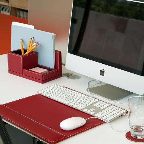 schreibtisch selber bauen home office elegant leder apple