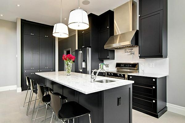 schwarz farben für küchenschränke ideal wahl contemporary minimalismus
