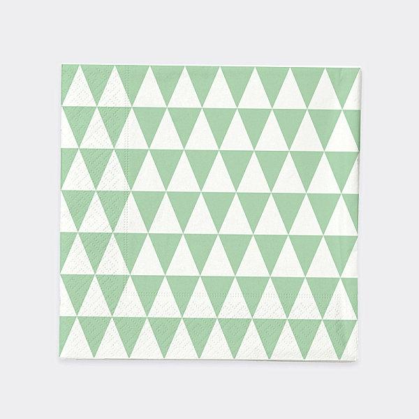 servietten dreiecken Heimtextilien und Wohnaccessoires in Pastellfarben grün