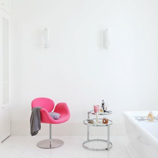 sessel modern design bad raffiniert weiß