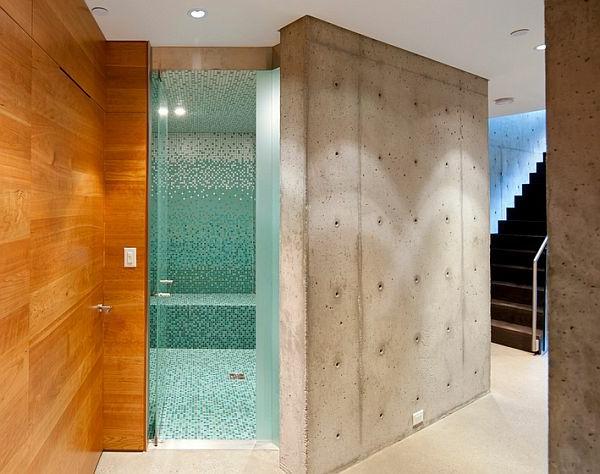 stützwand trennwand betonwand badezimmer Sichtbeton zu Hause
