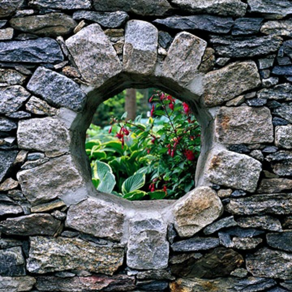 steinmauer außenarchitektur art