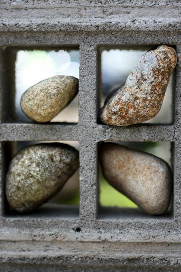 steinmauer aus beton