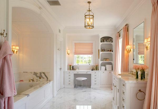 stilvolle frisierkommode im badezimmer weiße holzmöbel dekoideen