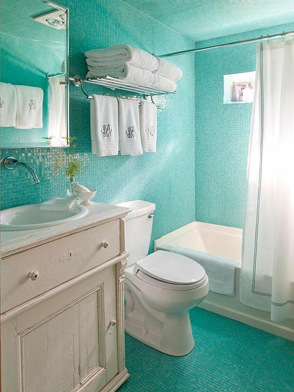Badezimmer fliesen mosaik türkis  40 Badezimmer Fliesen Ideen - Badezimmer Deko und Badmöbel