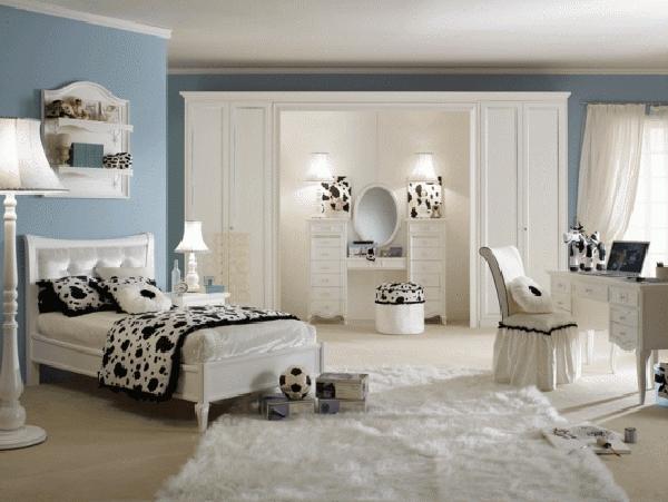 Teenager Zimmer Gestalten Stilvoll In Schwarzweiß Schminkentisch