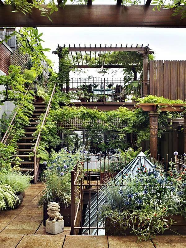 terrasse bepflanzen dachterrassengestaltung ideen