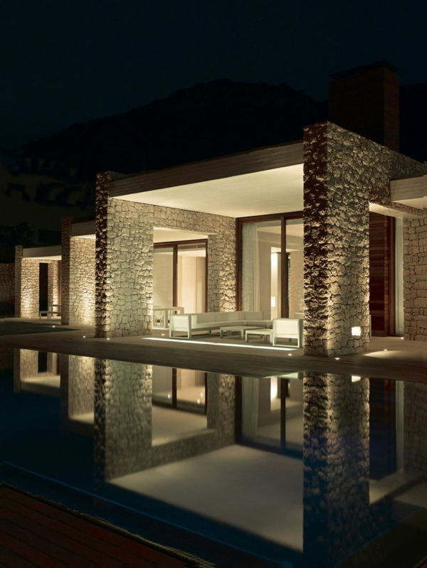 terrassengestaltung modern weiße sitzecke fenster